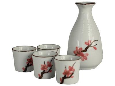 Sake set - 5-delig - Sakura