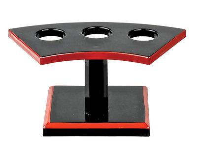 Temaki houder met 3 gaten zwart