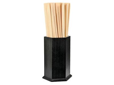 Eetstokjeshouder hout zwart