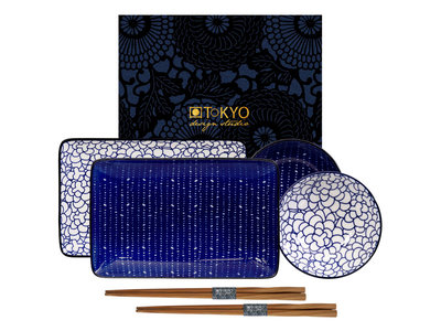 Sushiset - Blue de Nimes Flower-Pebble