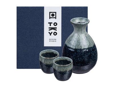 Sake set - 3-delig Namako Unofu