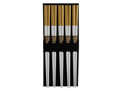 Eetstokjes wit-goud | Sushitotaal.nl | De Sushi webshop