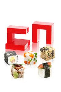 Sushi rice cube